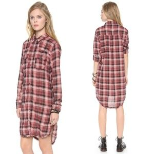 Free People Eight Days a Week Plaid Shirt Dress168